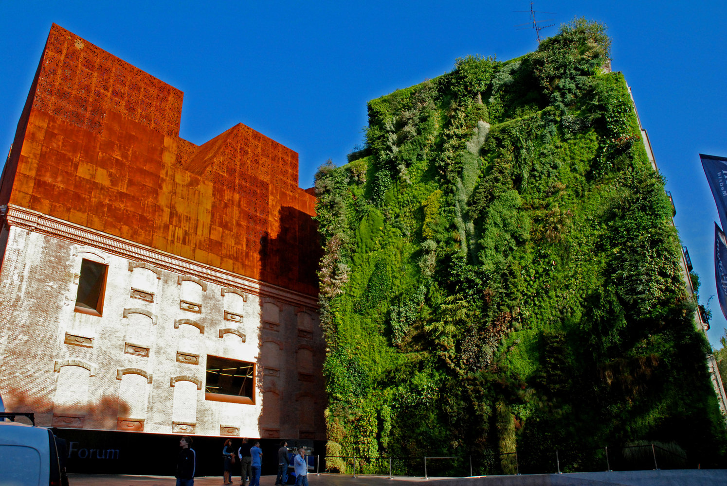 Caixa forum madrid mur vegetal patrick blanc for Jardin vertical caixaforum madrid