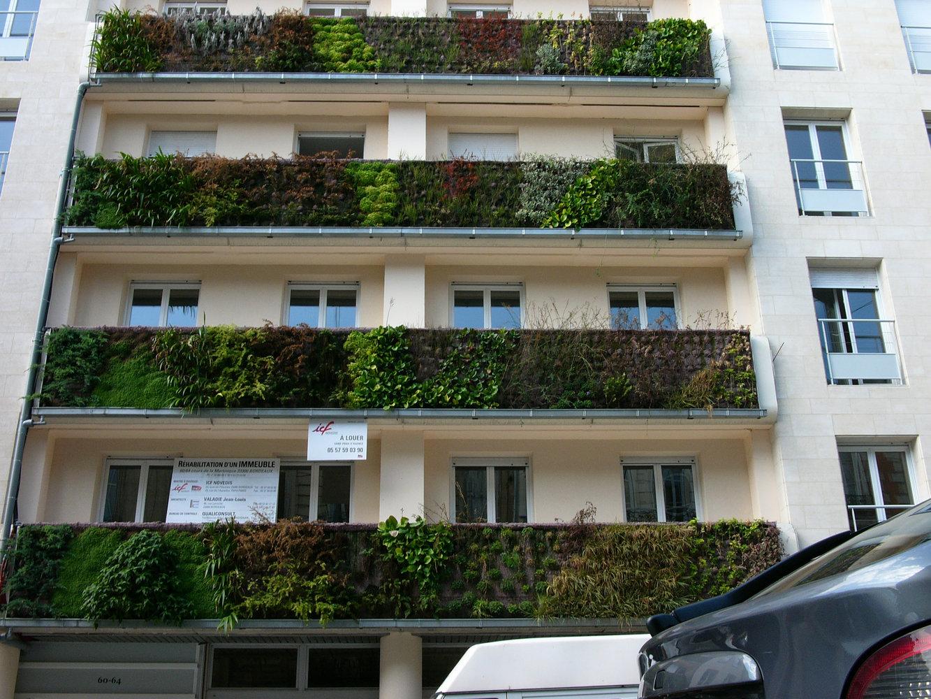 Immeuble icf mur vegetal patrick blanc - Immeuble vegetal ...